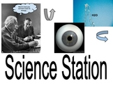 Elementary Literacy Center Sign: Science Station