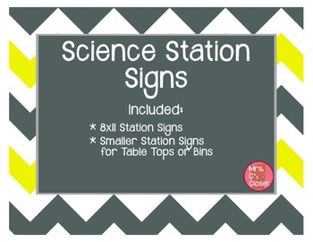 Science Station Signs