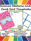 Science Stations and Card Sort Templates