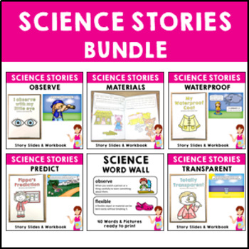 Science Stories Bundle Transparent Waterproof Material Predict Observe