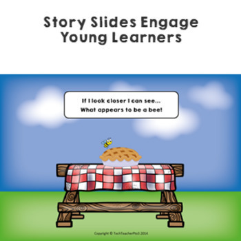 STEM Science Vocabulary Story 'I observe with my little eye' slides & activities