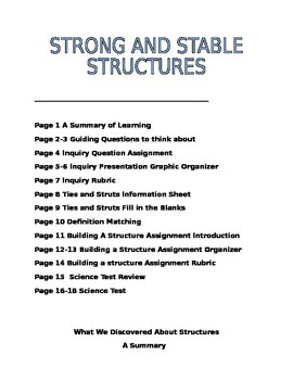 Science Strong and Stable Structures