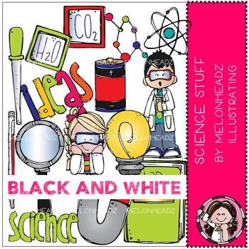 Science Stuff clip art - BLACK AND WHITE - Melonheadz Clipart