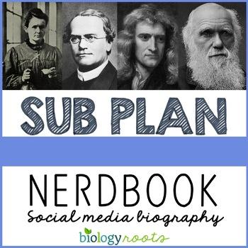 Science Sub Plan- Social Media Biography Page
