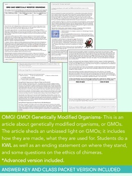Science Literacy Sub Plan- GMOs