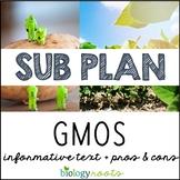 Science Sub Plan - Science Literacy -GMOs