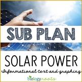 Science Sub Plan - Science Literacy - Solar Power