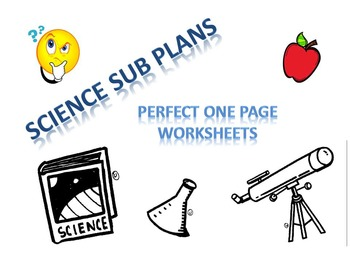 5 PERFECT Science Sub Plans