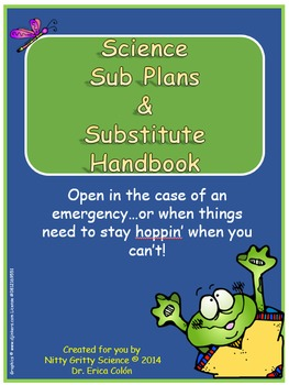 Science Sub Plans with EDITABLE Substitute Handbook