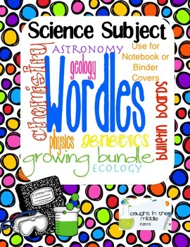 Science Subject Cover Pages
