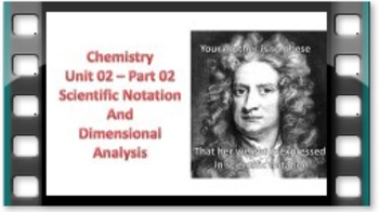 Science Substitute Lesson - Chemistry: Data & Measurement – With Notes & Video!