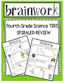 Science SPIRALED Homework or Warm -UP -  4th Grade - Texas TEKS