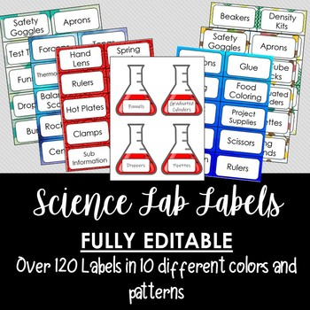 Science Supply Labels- 170 Pages!!