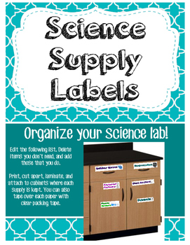 Science Supply Labels to Organize Your Lab