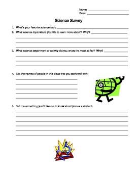 Science Survey for Grades 4-8