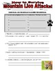 Science of Survival - Mountain Lion Attack! (article / question sheet)