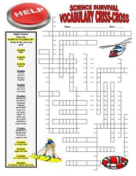 Science Survival Vocabulary Puzzles