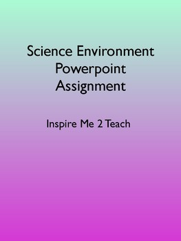 Science Sustainability PowerPoint Assignment