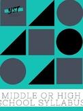Middle School or High School Syllabus