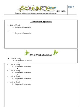 Science Syllabus