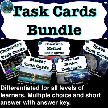 Science Task cards BUNDLE: over 180 TASK cards (multiple c