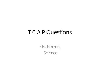 Science TCAP Questions