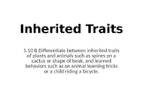 Science TEKS 5.10B Learned Behavior & Inherited Traits 2016