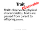 Science TEKS 5.10B Learned Behavior & Inherited Traits 2016
