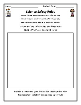 Science TEKS 5.1A (science safety) QR Code Student Activity