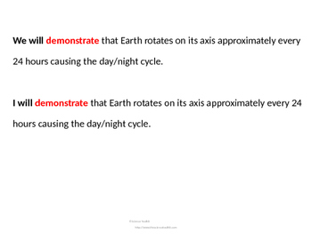 Science TEKS 5.8C Day and Night Cycle