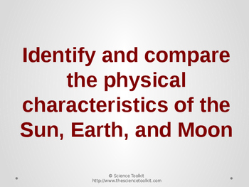 Science TEKS 5.8D Physical Characteristics of the Sun, Earth and Moon PPT