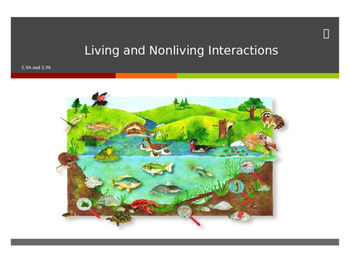 Science TEKS 5.9A and 3.9A Living and Nonliving Interactions