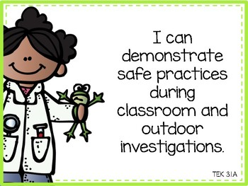 """Science TEKS """"I Can"""" Statements 3rd Grade"""