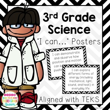 Science TEKS I can Statements Black Chevron