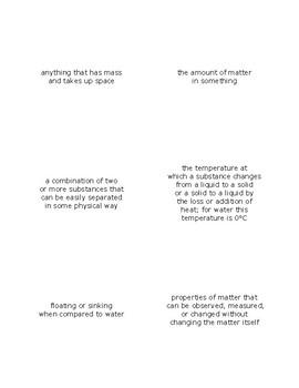 Science TEKS Vocabulary Flash Cards
