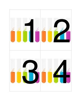 Science Table Numbers