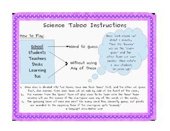 Science Taboo: Heat Transfer Vocabulary