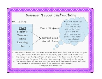 Science Taboo: Waves, Sound, and Light Edition