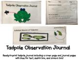 Science Tadpole Observation Journal