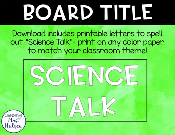 Science Talk: Posters and Conversation Starters