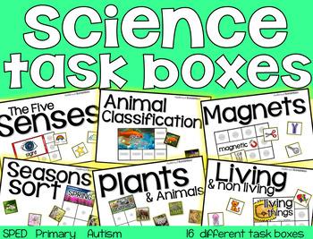 Science Task Boxes - Primary (BUNDLE)