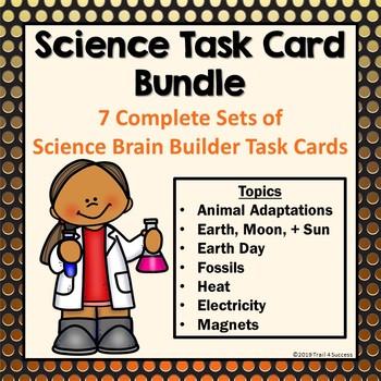Science Task Cards Bundle - Heat, Electricity, Adaptations