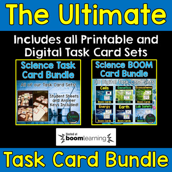 Science Task Card Bundle - Includes Digital Boom Cards™ - Distance Learning