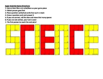 Science Task Card Game Board