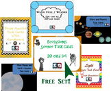 Science Task Card Set 01 - 5 topics with a BONUS