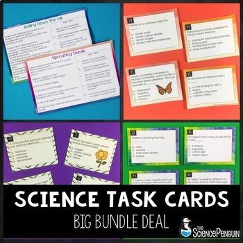 Science Task Cards Bundle