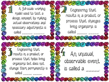 Science Task Cards- Engineering and Technology