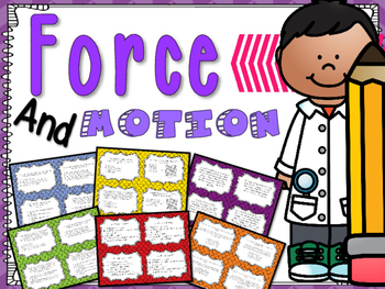 Science Task Cards: Force and Motion 5.P.1