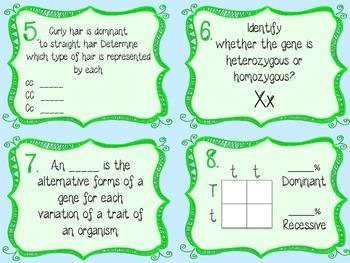 Science Task Cards- Genetics & Heredity