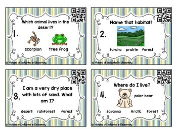 Science Task Cards: Habitats Set